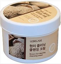 Parfumuri și produse cosmetice Cremă de curățare cu extract de orez brun - Lebelage Brown Rice Cleaning Cleansing Cream