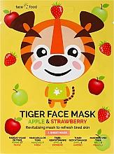 """Parfumuri și produse cosmetice Mască de țesut """"Tigru"""" cu extract de mere și căpșuni - 7th Heaven Face Food Tiger Face Mask Apple & Strawberry"""