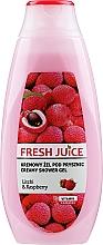 """Parfumuri și produse cosmetice Cremă gel de duș """"Litchi și zmeură"""" - Fresh Juice Creamy Shower Gel Litchi & Raspberry"""