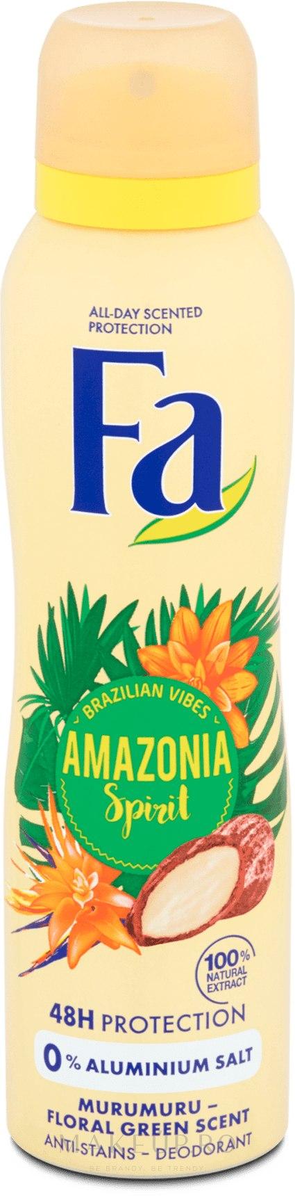 "Deodorant-Spray ""Ritmurile Braziliei"" - Fa Amazonia Spirit Deo Spray — Imagine 150 ml"