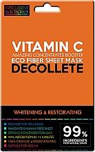 Parfumuri și produse cosmetice Mască-express pentru zona decolteului - Beauty Face IST Whitening & Restorating Decolette Mask Vitamin C