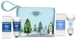 Parfumuri și produse cosmetice Set - Institut Karite Shea (butter/10ml + lipstick/4g + h/cr/75ml + foot/cr/75ml + bag)