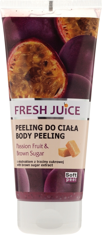 "Peeling de corp ""Fructul pasiunii și zahăr brun"" - Fresh Juice Passion Fruit & Brown Sugar"