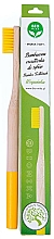 Parfumuri și produse cosmetice Periuță de dinți, din bambus, moale, galbenă - Biomika Natural Bamboo Toothbrush
