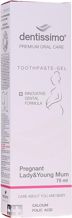 Pastă-gel de dinți pentru femei însărcinate și mame tinere - Dentissimo Pregnant Lady & Young Toothpaste-Gel — Imagine N1