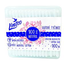 Parfumuri și produse cosmetice Bețișoare din bumbac, 100buc. - Linteo Biodegradalne 100% Natural