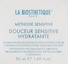 Parfumuri și produse cosmetice Cremă hidratantă regenerantă pentru pielea sensibilă și deshidratată - La Biosthetique Douceur Sensitive Hydratante Cream