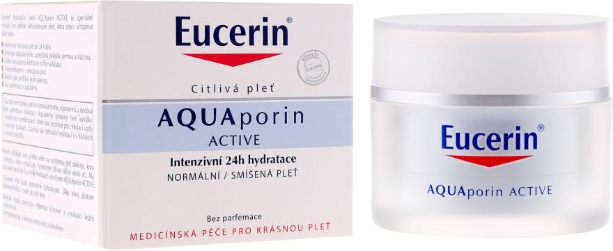 Cremă de față - Eucerin AquaPorin Active Deep Long-lasting Hydration For Normal To Mixed Skin — Imagine N1