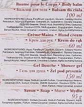 "Set ""Căpșuni și Șampanie"" - Nature De Marseille (sh/gel/150ml +cr/60ml + b/balm/100ml + soap/95g) — Imagine N7"
