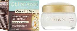 Parfumuri și produse cosmetice Cremă nutritivă pentru față - Clinians Argan Crema & Olio Cream