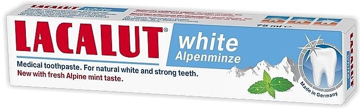 """Pastă de dinți """"Mentă"""" - Lacalut White Alpenminze Toothpaste — Imagine N2"""