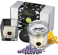 """Parfumuri și produse cosmetice Set """"Lavandă"""" - Klareko (candle/200g + soap)"""