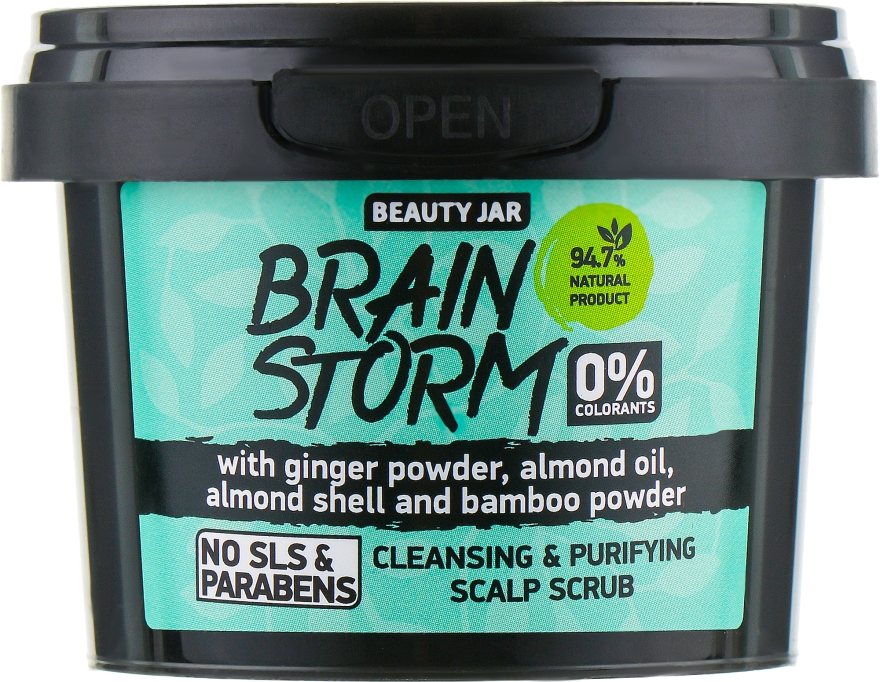 "Scrub pentru scalp ""Brain Storm"" - Beauty Jar Cleansing & Purifying Scalp Scrub — Imagine N2"