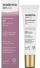 Parfumuri și produse cosmetice Gel anti-îmbătrânire cu trei tipuri de retinol pentru pielea din jurul ochilor - SesDerma Laboratories Reti Age Facial Eye Contour Gel 3-Retinol System