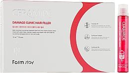 Parfumuri și produse cosmetice Filler hidratant cu ceramide pentră păr - FarmStay Ceramide Damage Clinic Hair Filler