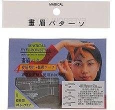 Parfumuri și produse cosmetice Șabloane pentru sprâncene, mărime B5, B6, B7, B8 - Magical Eyebrow Style