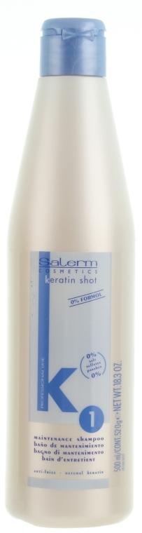Șampon cu keratină pentru păr - Salerm Keratin Shot Maintenance Shampoo — Imagine N1