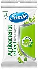 Parfumuri și produse cosmetice Șervețele umede cu vitamine, 15buc - Smile Ukraine Antibacterial