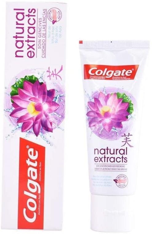 """Pastă de dinți """"Floare de lotus"""" - Colgate Natural Extracts Gum Care with Lotus Flower — Imagine N1"""