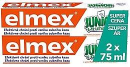 Parfumuri și produse cosmetice Set - Elmex Junior Toothpaste (2xtoothpaste/75ml)