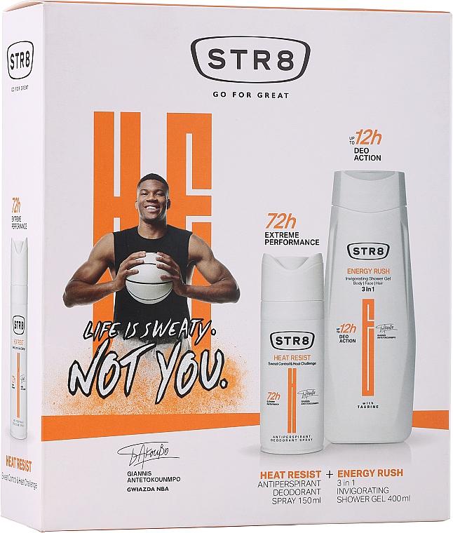 Set - STR8 Heat Resist & Energy Rush (deo/spray/150ml + sh/gel/400ml) — Imagine N1