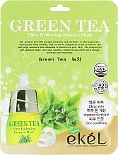 Parfumuri și produse cosmetice Mască de țesut cu extract de ceai verde - Ekel Green Tea Ultra Hydrating Essence Mask