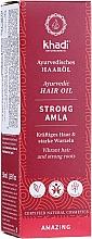 Parfumuri și produse cosmetice Ulei de păr - Khadi Ayuverdic Strong Amla Hair Oil