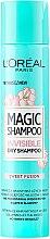 Parfumuri și produse cosmetice Șampon uscat pentru păr - L'Oreal Paris Magic Shampoo Invisible Dry Shampoo Sweet Fusion