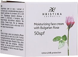 Parfumuri și produse cosmetice Cremă hidratantă de față SPF50 - Hristina Cosmetics Moisturizing Face Cream With Bulgarian Rose SPF50