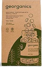 """Parfumuri și produse cosmetice Tablete pentru curățarea dinților """"Arbore de ceai"""" - Georganics Natural Toothtablets Tea Tree (rezervă)"""