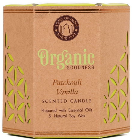 """Lumânare aromatică """"Patchouli și Vanilie"""" - Song of India Scented Candle — Imagine N1"""