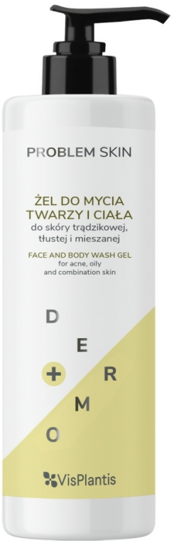 Gel de curățare pentru față și corp - Vis Plantis Problem Skin Face And Body Wash Gel