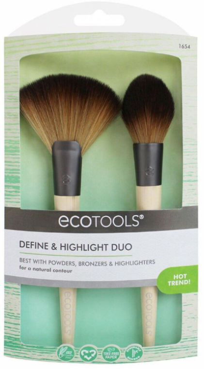 Set pensule pentru machiaj, 2 buc - EcoTools Define And Highlight Duo — Imagine N2