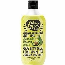 "Parfumuri și produse cosmetice Cremă-gel de duș ""Relax"" - MonoLove Bio Avocado-Hawai Relax"