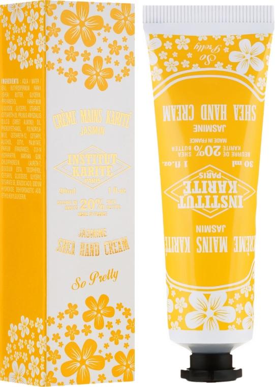 Cremă de mâini - Institut Karite So Pretty Hand Cream Jasmine — Imagine N1