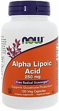 Parfumuri și produse cosmetice Acid alfa lipoic, 250 mg capsule - Now Foods Alpha Lipoic Acid