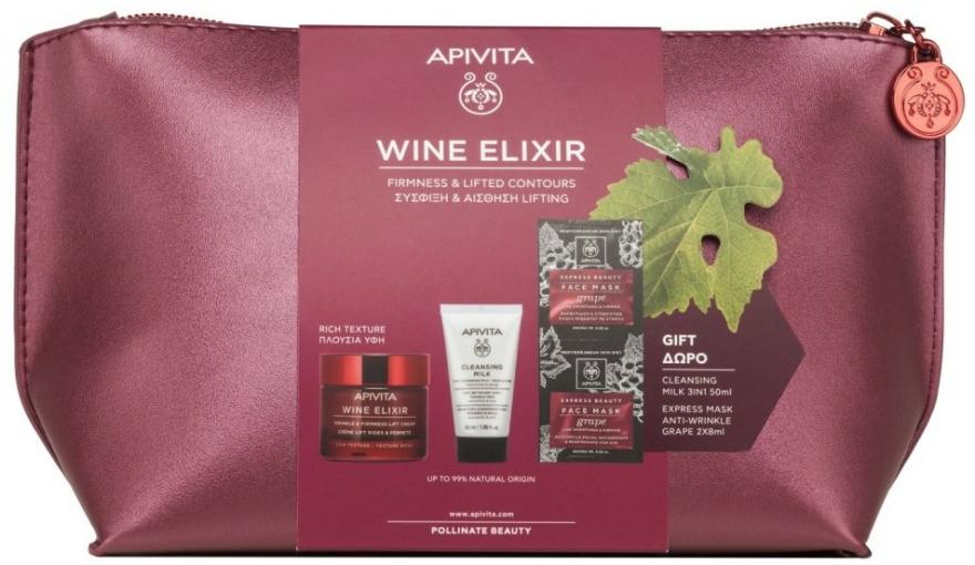 Set - Apivita Wine Elixir Rich Texture (cream/50ml + milk/50ml + mask/2x8ml) — Imagine N1