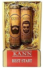 Parfumuri și produse cosmetice Set - Kann Best Start Man (f/d/cr/50ml + f/gel/150ml)
