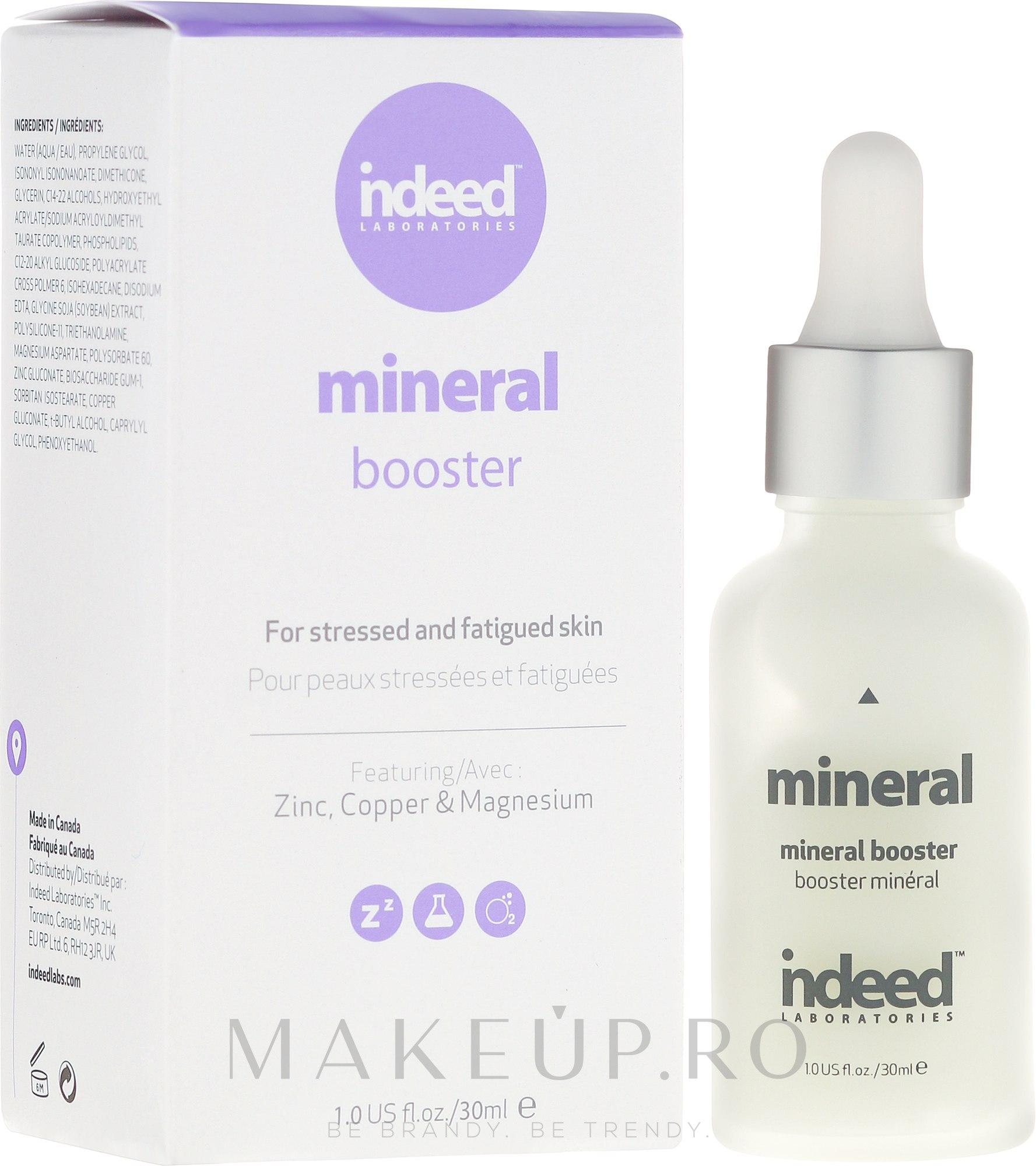 Ser micelar pentru față - Indeed Labs Mineral Booster Serum — Imagine 30 ml