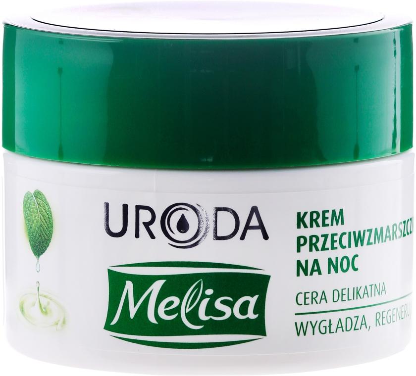 Cremă de noapte pentru față, cu efect anti-rid - Uroda Melisa Face Cream