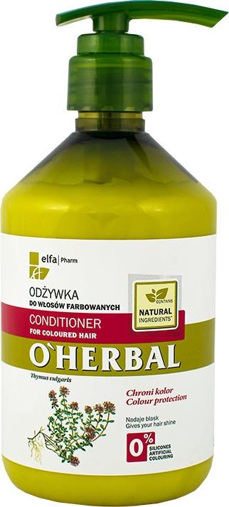 Balsam pentru păr vopsit cu extract de cimbru - O'Herbal