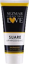 Parfumuri și produse cosmetice Gel de duș 2 în 1 - Sezmar Collection Aphrodisiac Suare Hair&Body Shower Gel