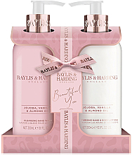 Parfumuri și produse cosmetice Set - Baylis & Harding Jojoba, Vanilla & Almond Oil (h/wash/300ml + h/b/lot/300ml)