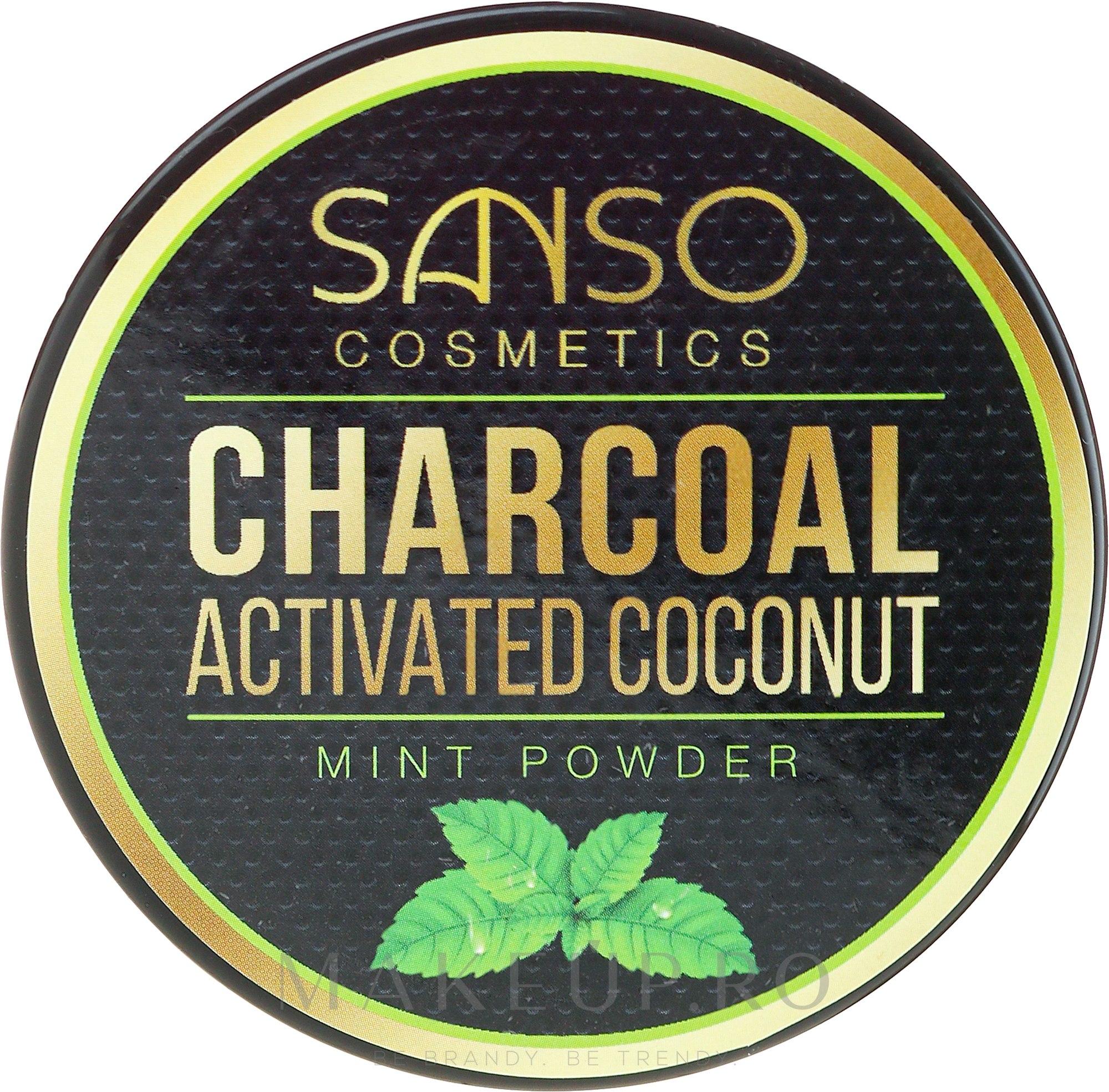 Praf pentru înălbirea dinților - Sanso Cosmetics Charcoal Activated Coconut Mint Powder — фото 30 g