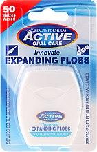Parfumuri și produse cosmetice Ață dentară delicată cu mentă și fluor - Beauty Formulas Active Oral Care Expanding Floss Mint With Fluor 50m