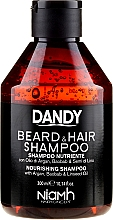 Parfumuri și produse cosmetice Șampon pentru păr și barbă - Niamh Hairconcept Dandy Beard & Hair Shampoo