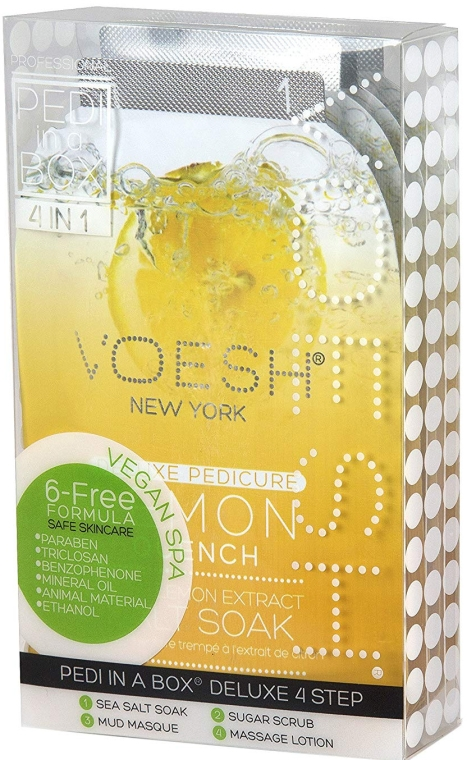 "Set pentru pedichiură ""Lămâie"" - Voesh Pedi In A Box Deluxe Pedicure Lemon Quench (35 g)"