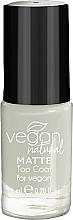 Parfumuri și produse cosmetice Top coat mat pentru unghii - Vegan Natural Matte Top Coat