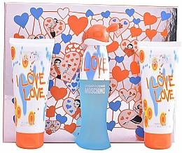 Parfumuri și produse cosmetice Moschino I Love Love - Set (edt/50ml+b/lot/100ml+sh/gel/100ml)
