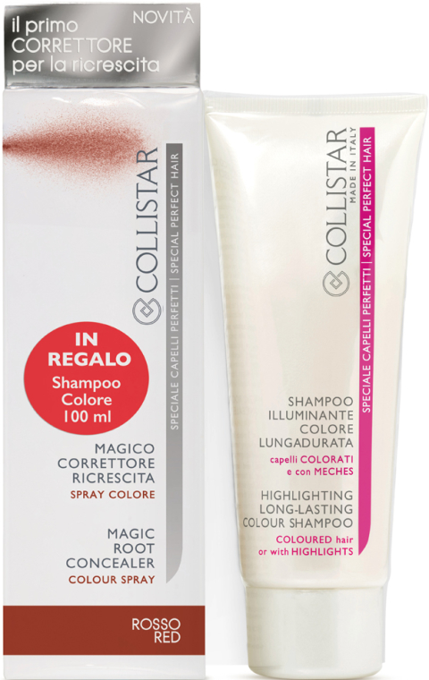 Set - Collistar Special Perfect Hair Magic Root Concealer Red (shm/100 ml + concealer/75ml) — Imagine N1